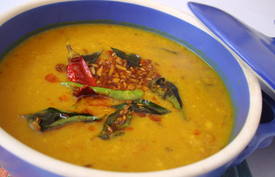 Tadka Tomato Dal And Green Tomato Chutney Recipe — Dishmaps